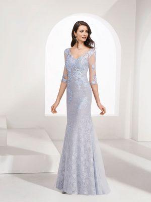 Vestido de fiesta Marfil 3g138 Frontal