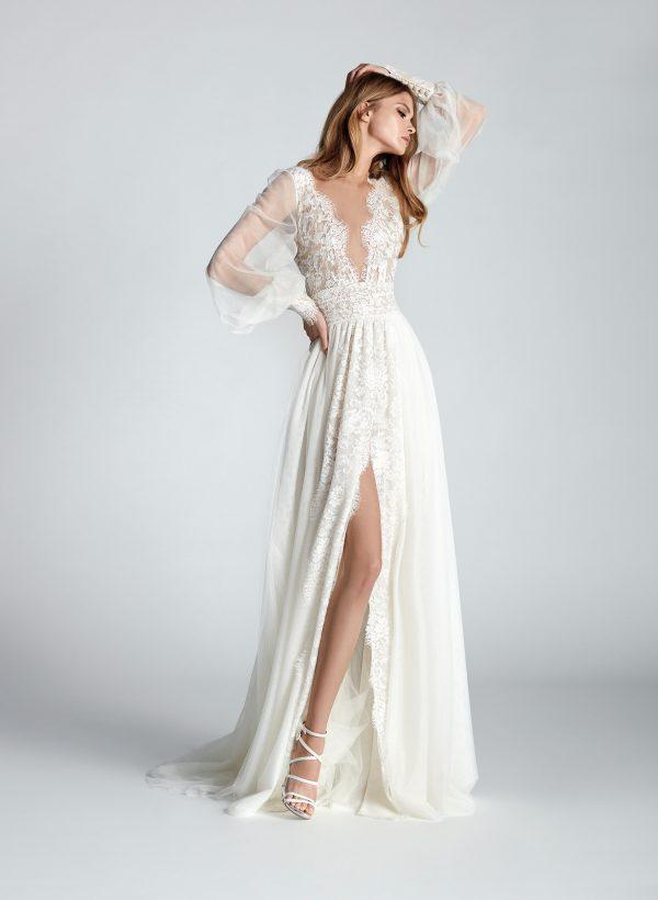 Vestido de novia Hannibal Laguna Tangelo Frontal