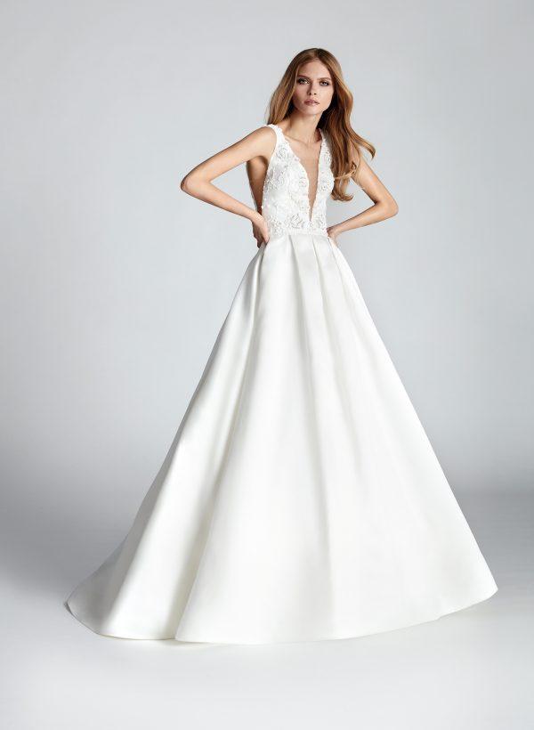 Vestido de novia Hannibal Laguna Teatriz Frontal