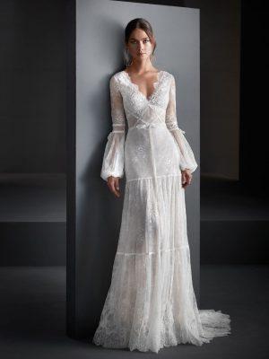 Vestido de novia Manu García Olinda Frontal