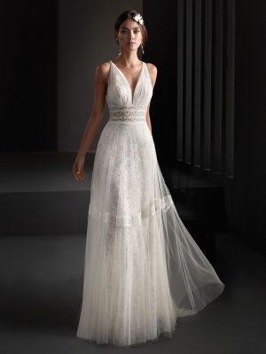 Vestido de novia Manu García Oriol Frontal