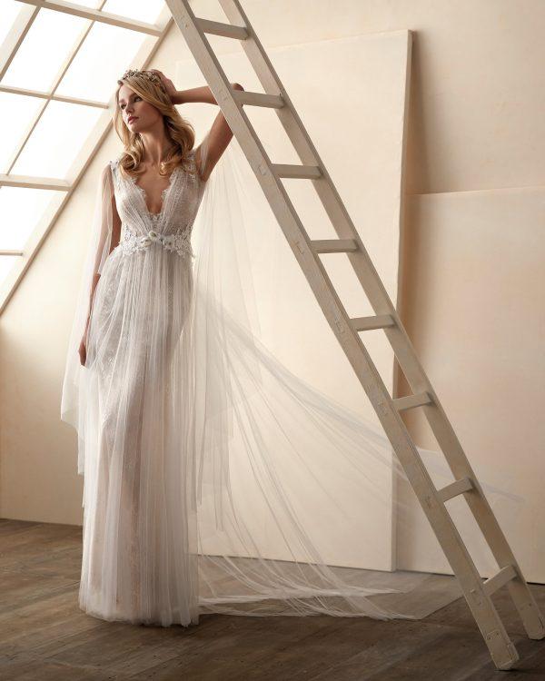 Vestido de novia Valerio Luna Cloe Frontal