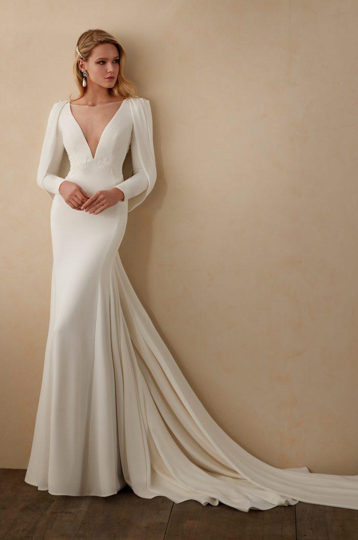 Vestido de novia Valerio Luna Coco Frontal